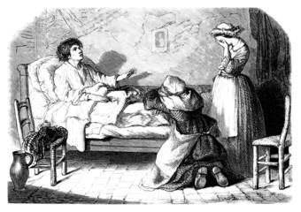 Dying Man - 19th century