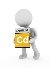 3d man carry a cadmium box