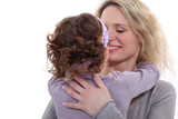 portrait of young mother with daughter showing their affection