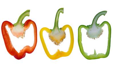 Paprikas in verschiedenen Farben