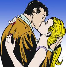 Amoureux qui s'embrassent
