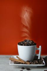 Café recien tostado.