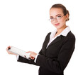 Business woman with pad