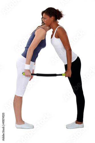 women doing exercises together