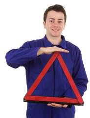 fitter with triangle