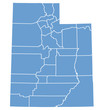 State map of Utah by counties