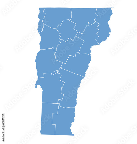 State Map of  Vermont by counties