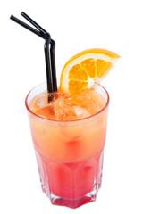 Cocktail with orange juice