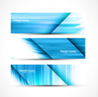 abstract new wave header vector set illustration
