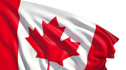 Waving Canada flag (alpha, slow motion)