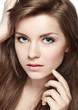 closeup portrait of attractive girl