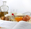 cooking old recipe ingredients and cook book