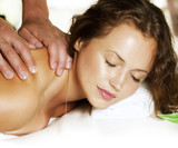 Spa Massage. Beauty Woman Getting Massage. Day-Spa