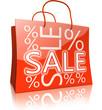 Serie: Einkaufstasche SALE rot