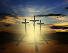 Ostern drei Kreuze Religion Konzept