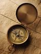 old compass on vintage background