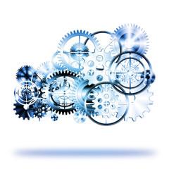 cloud made by gears wheels