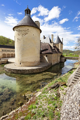 French Chateau of Bussy Rabutin in Burgundy, France
