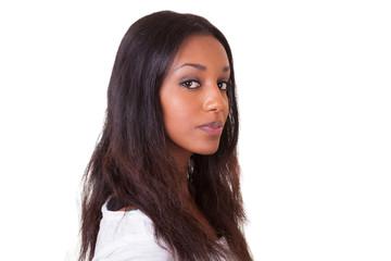 Young beautiful black woman