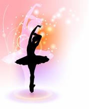 Tanz auf farbigem Hintergrund