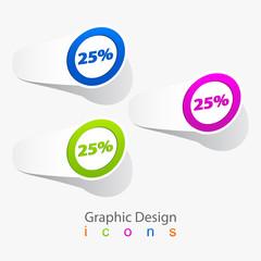 label vector sale color.