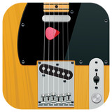 Vector square guitar icon