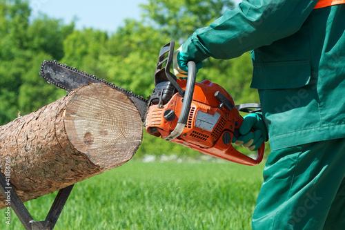Kettensäge Brennholz machen