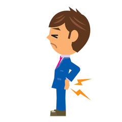 ビジネスマン イラスト 腰痛