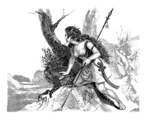 Ancient Pict : a Warrior Woman - 50 BC