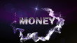 MONEY Text in Particle (Double Version) - HD1080