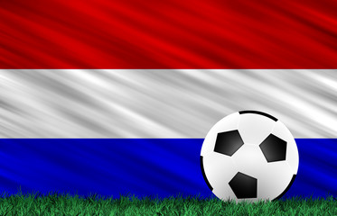 Soccer ball and flag