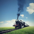 Travel by steam train