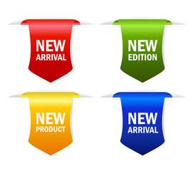 New arrival vector ribbons set