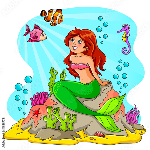 Poster Zeemeermin mermaid and her friends
