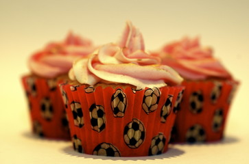 Cup Cakes Pink Frosting
