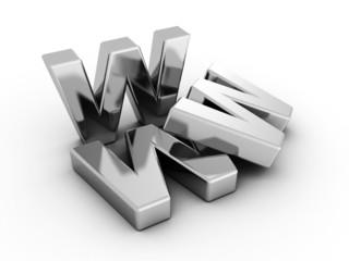 www metallic internet web online concept letters