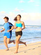 Sport couple running fitness