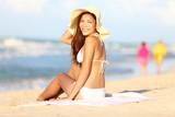 Vacation beach woman happy