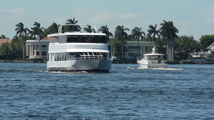 Yacht on the Florida waterways