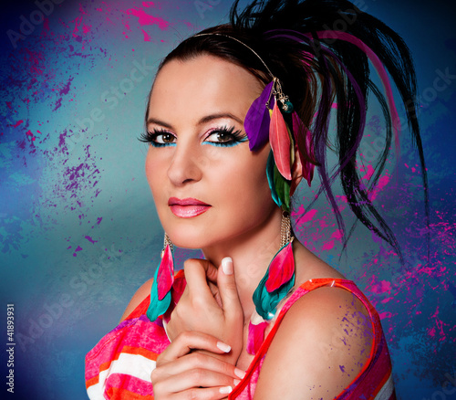 Beauty Portrait bunte Farben / colors-3
