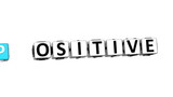 3D Think Positive Crossword on white background poster