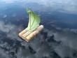 Leinwandbild Motiv Phantasie - Über den Wolken