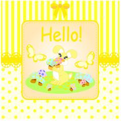 sarı sevimli tavşan