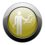Yellow Metallic Orb Button