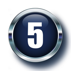 Beş mavi ikonda