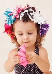 Child Playing with Ribbons