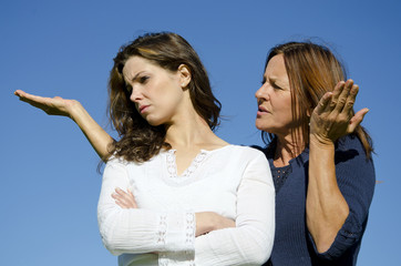 Family argument, mother and daughter dispute