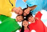 Happy children in circle - Fine Art prints