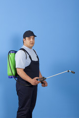 Man spraying insects- pest control