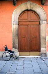 Wheelchair Near Entrance